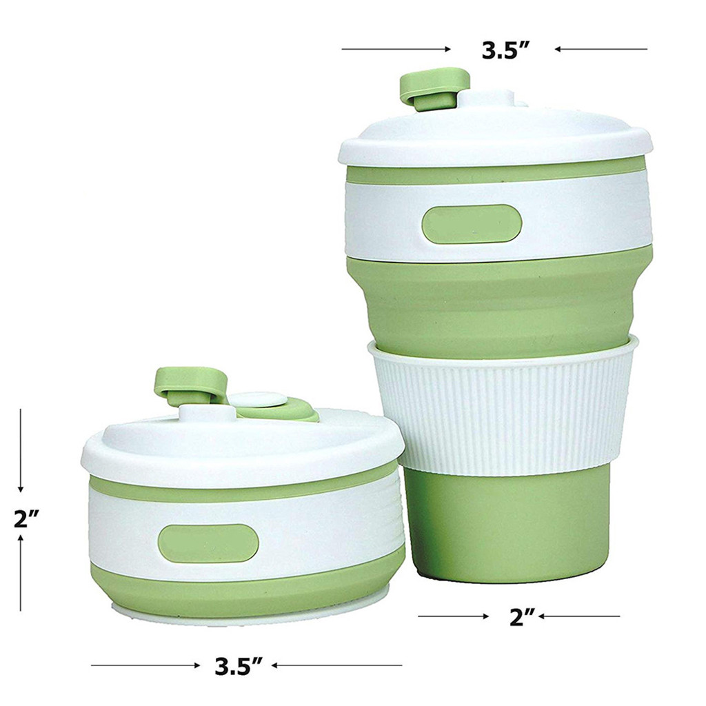 JOUDOO Folding Silicone Portable Silicone Telescopic Drinking Collapsible coffee cup multi function folding silica cup Travel 35 in Water Bottles from Home Garden