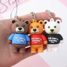 2019 Cartoon Cute Candy Color Resin Gummy Bear Keychain Flatback Pendant Charms Keyring For Woman Accessories