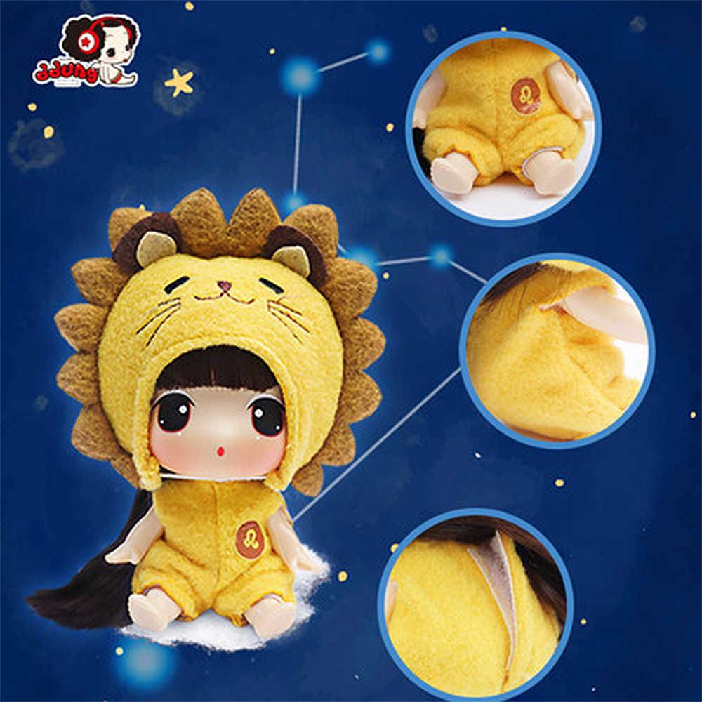 Ddung בובת 9 cm אמיתי קוריאני שנים עשר כוכבים לשנות בובות BJD מיני תינוק יום הולדת הווה מפתח תליון אוסף קישוט
