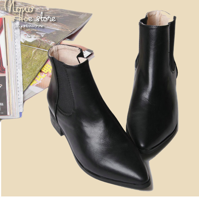 Ladies Black Flat Pointed Shoes