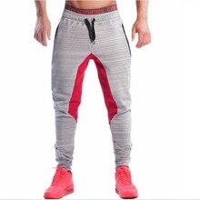 Neue 2016 Bodyboulding Herren Hosen Marke Kleidung Splice Baumwolle Hosen Professionelle Fitness Jogger Jogginghose Männer Hohe Qualität