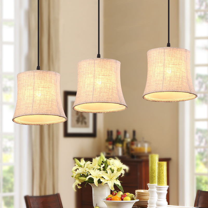 Aliexpress American Country Pendant Lights Fabric Shade E27 Lamparas Led Lamp Indoor Lighting Houten Loft Hanglamp Restaurant Suspension From