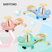 Children 1 3 6 Years Old Baby Scooter Twist Car Toy Swing With Music Girl Yo Mute Wheel