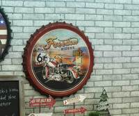 Grande effetto 3D tin sign Route 66 Vintage Verniciatura Metalli coperchio della birra Bar Wallpaper Decor Retro Poster Murale Craft 50x50 CM