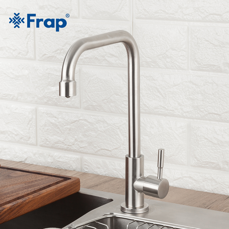 Frap Kitchen Faucet 360 Degree Rotation Stainless Steel Kitchen Faucet Mixers Sink Tap Wall Kitchen Faucet Modern Mixer Y40528