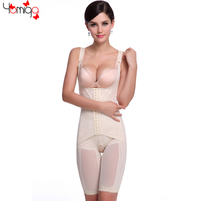 418bfbbe32 Hot Black Beige M to 4XL Open Crotch Bodysuit Shapewear Lace Front Closure  Waist Slimming Hot