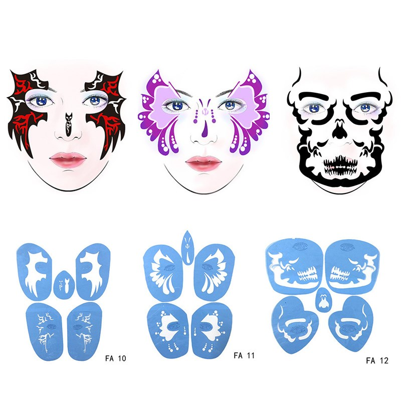 Airbrush Paint Stencil Temporary Tattoo Painting Makeup