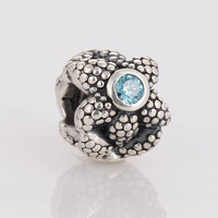 Fits Pandora Charms Bracelet Authentic 925 Silver Charms Cherry Blossom Ball Charm Bead Women DIY Jewelry