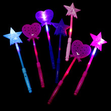 Blinkende Lichter Up Glow Sticks Magie Stern Wand Party Konzert Weihnachten Halloween kinder Geschenk Spielzeug Glowing Fee Pentagramm Flash stick(China)