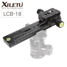 XILETU LCB-18B Camera Track Dolly Slider Clamp Professional Tripod Head Rail Dolly for DSLR Video Camcorder DV Filmmaking Track new 4 wheels for diy camera dolly rig slider track table skater u groove