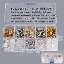 Protetor para brincos, moda diy, brincos, bloco, descobertas, rolha traseira, nozes, conjunto de 450/580 peças