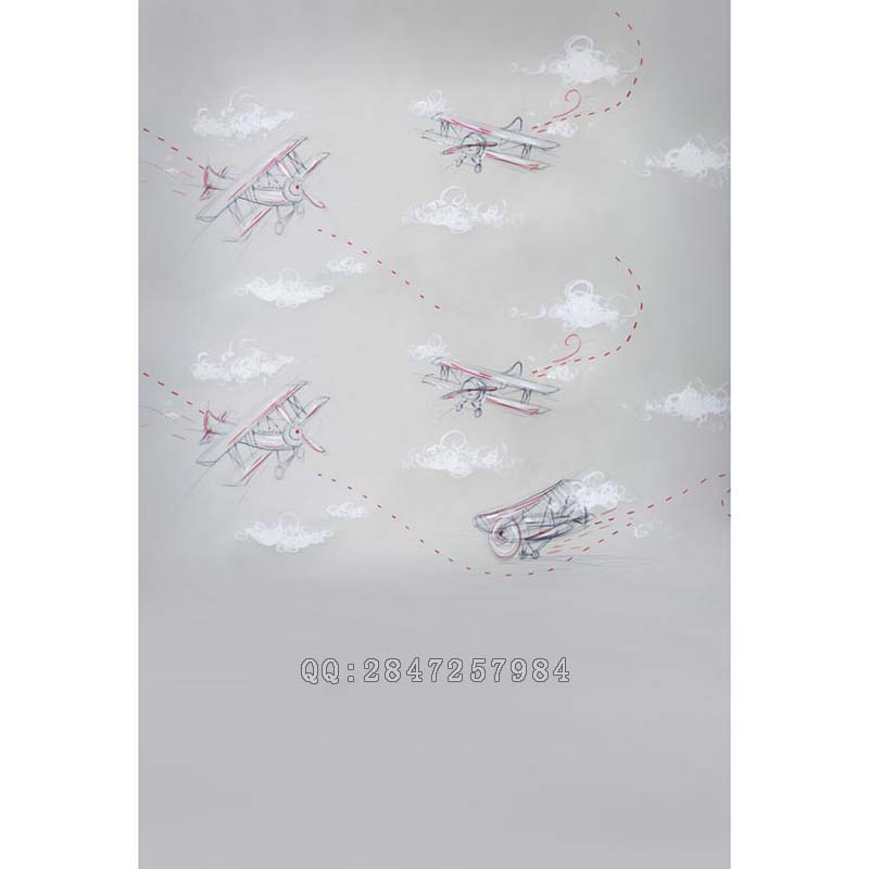 photo studio props baby background photography birthday backdrops simple childlike airplanes clouds for photos  S-1206 spring background photography for kids photos green screen photography backdrops children photo props custom made backgrounds