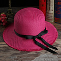 Small fresh female fashion summer new straw hat sun shade hat Large brimmed beach hat