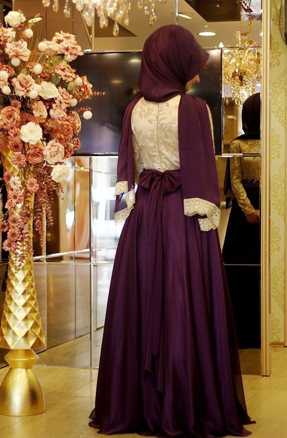 6a9a609106f 2016 A line Long Sleeves Purple Embroidery Muslim Evening Dresses Hijab  Islamic Dubai Abaya Kaftan Long Evening Gown Prom Dress-in Evening Dresses  from ...