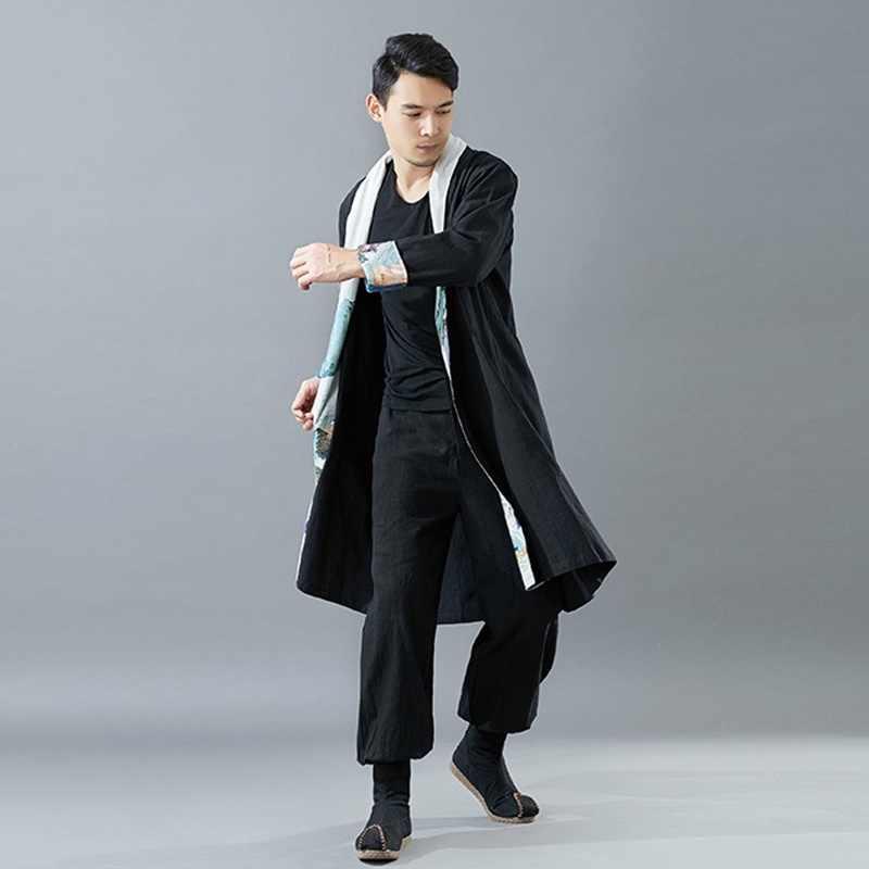 Традиционная китайская одежда для мужчин мужское пальто Верхняя одежда Восточный зимний Тренч Мужская одежда Тренч 2018 TA057
