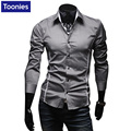 Hot Sale Men's Shirt Slim Fit Man's Shirts Long Sleeve Mens Chemises Casual Camisas Hombre Vestir Vetement Homme Overhemd Heren