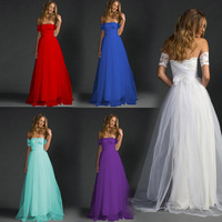 Elegant Long Prom Dresses Women Solid Lace Tulle Banquet Party Dress Beach Off The Shoulder Vestido De Festa A Line Vestido Gala