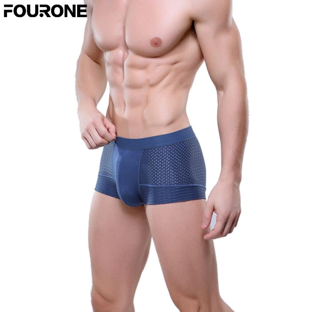 Mens boxers underwear Super-elastic Breathable Comfortable Antibacterial Male