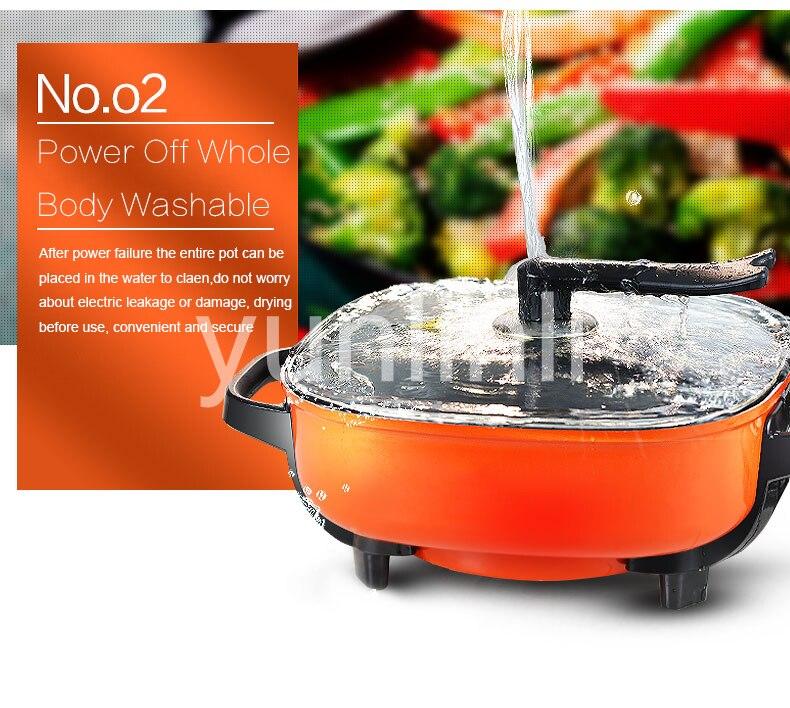 6L Электрический Hot Pot Плита бытовой горячей заварочный чайник Hot Pot Mulitifunction Кухня Плита антипригарным и регулируемый Температура