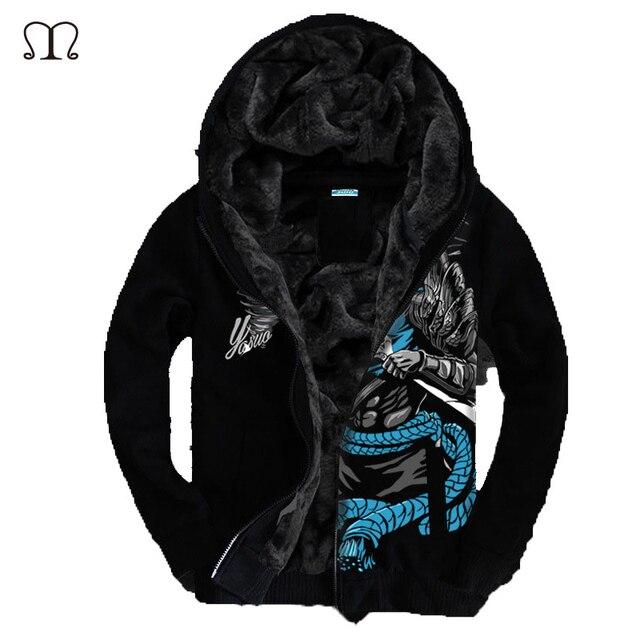 Luminous LOL 3D Jacket 2016 European Fashion Mens Vintage Thickening Autumn Winter Designer Famous Brand Male Slim Fit Warm Coat