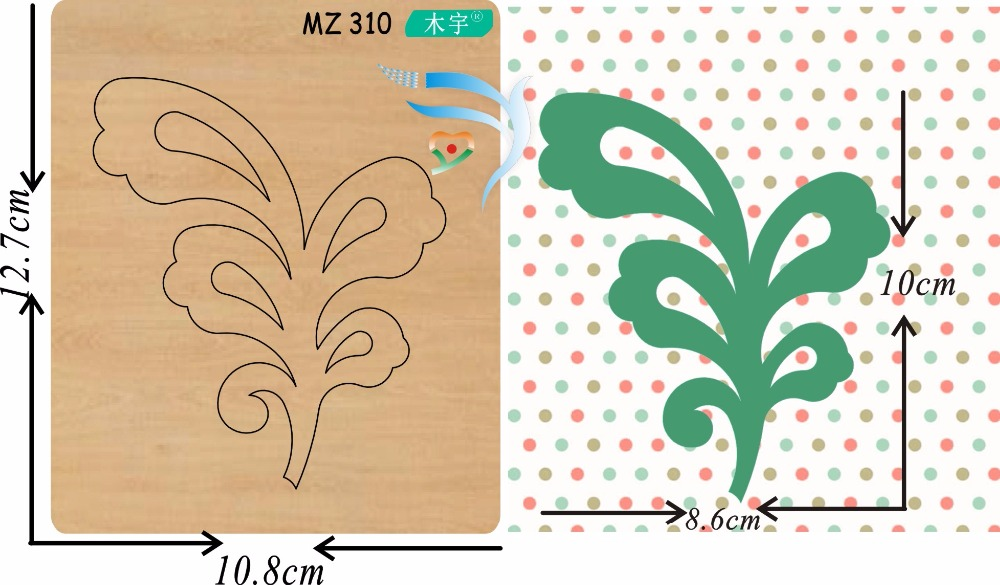 Green leaves 9 new wooden mould cutting dies for scrapbooking Thickness 15 8mm