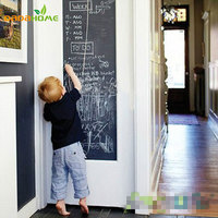 Free Shipping Vinyl Chalkboard Wall Stickers Removable Blackboard Decals Great Gift For Kids 45CMx200CM With 5