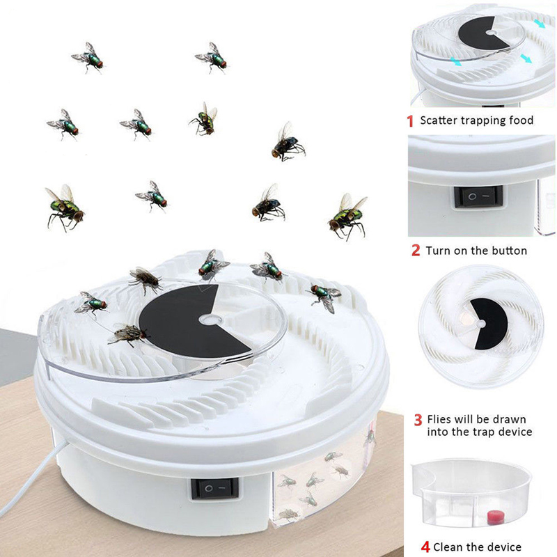 Dropship Insect Traps Fly Trap Electric USB Automatic Fly Catcher Trap Pest Reject Control Catcher Mosquito Flying Anti Killer-in Traps from Home & Garden