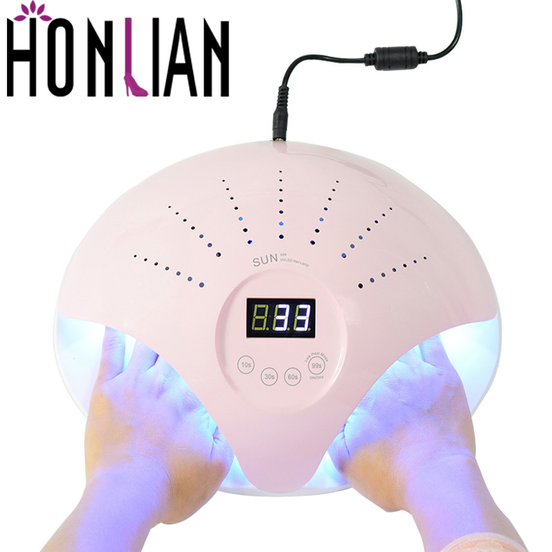 Honlian LED UV Lamp For Nail Manicure Dryer 48W For Two hands Cure aLL Gels Professional UV Gel Nail Polish Art Tool Decoration