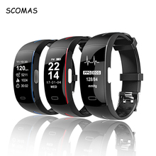 SCOMAS Fitness Tracker ECG+PPG Smartband Blood Pressure Measurement Bluetooth Smart Bracelet Wristband Sports Activity Watch цена и фото