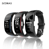 SCOMAS Fitness Tracker ECG+PPG Smartband Blood Pressure Measurement Bluetooth Smart Bracelet Wristband Sports Activity Watch