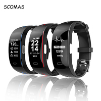 SCOMAS Fitness Tracker ECG+PPG Smartband Blood Pressure Measurement Bluetooth Smart Bracelet Wristband Sports Activity Watch