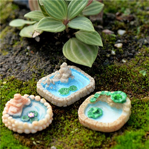 1pcs miniature pool resin micro landscaping decoration for Garden pool accessories