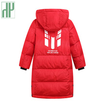 Children duck down jacket For Boys Teenager Outerwear Hooded Girls winter coat Thick kids snowsuits long parka 3 6 10 Years стоимость
