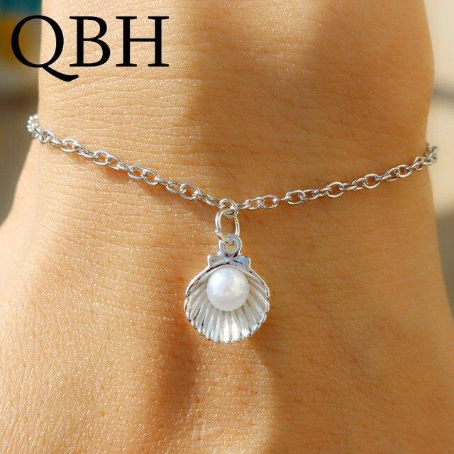 L205 Wrap Bracelet Simulated Pearls Pendant Charm Bracelets & Bangles For Women