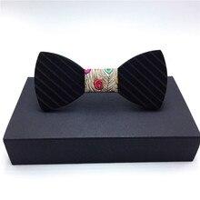 Рождественский подарок модные деревянный для взрослых галстуки-бабочки Для мужчин праздничный галстук-бабочка костюм декоративный галстук-бабочка моделирование нарядный галстук-бабочка
