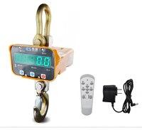 220 В Электронные Крановые весы цифровые подзаряжаемые светодиоды подвесной крючок с пультом дистанционного управления 1 T 2 T 3 T 5 T