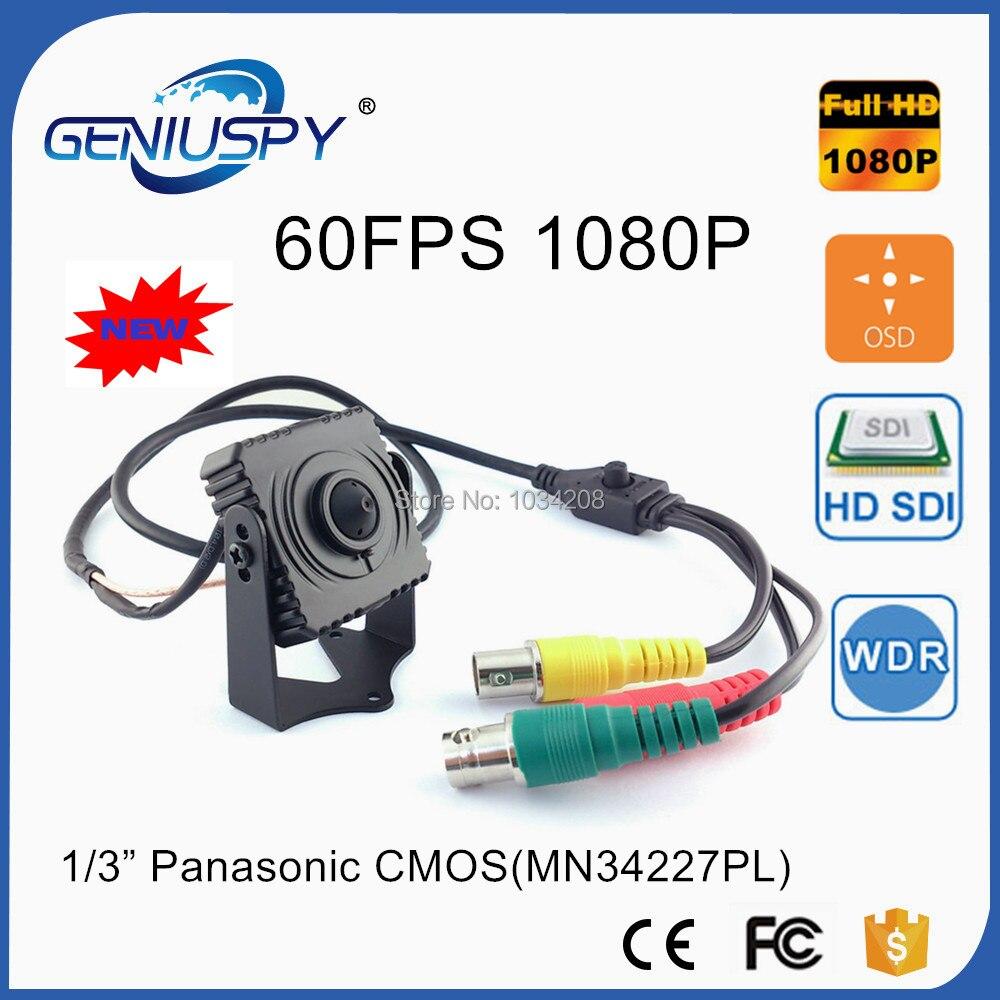 GENIUSPY Metal Mini Square SDI Camera 60FPS CCTV Panasonic 2MP Full 1080P HD SDI Mini Box Security Camera 3.7mm Pin Hole Lens mini square box