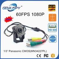 GENIUSPY Metal Mini Square SDI Camera 60FPS CCTV Panasonic 2MP Full 1080P HD SDI Mini Box