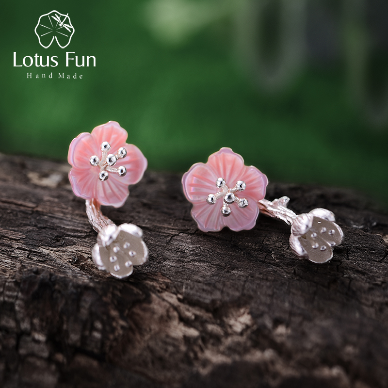 Lotus Fun Real 925 Sterling Silver Natural Creative Handmade Fine Jewelry Unique Begonia Flowers Drop Earrings for Women BrincosLotus Fun Real 925 Sterling Silver Natural Creative Handmade Fine Jewelry Unique Begonia Flowers Drop Earrings for Women Brincos
