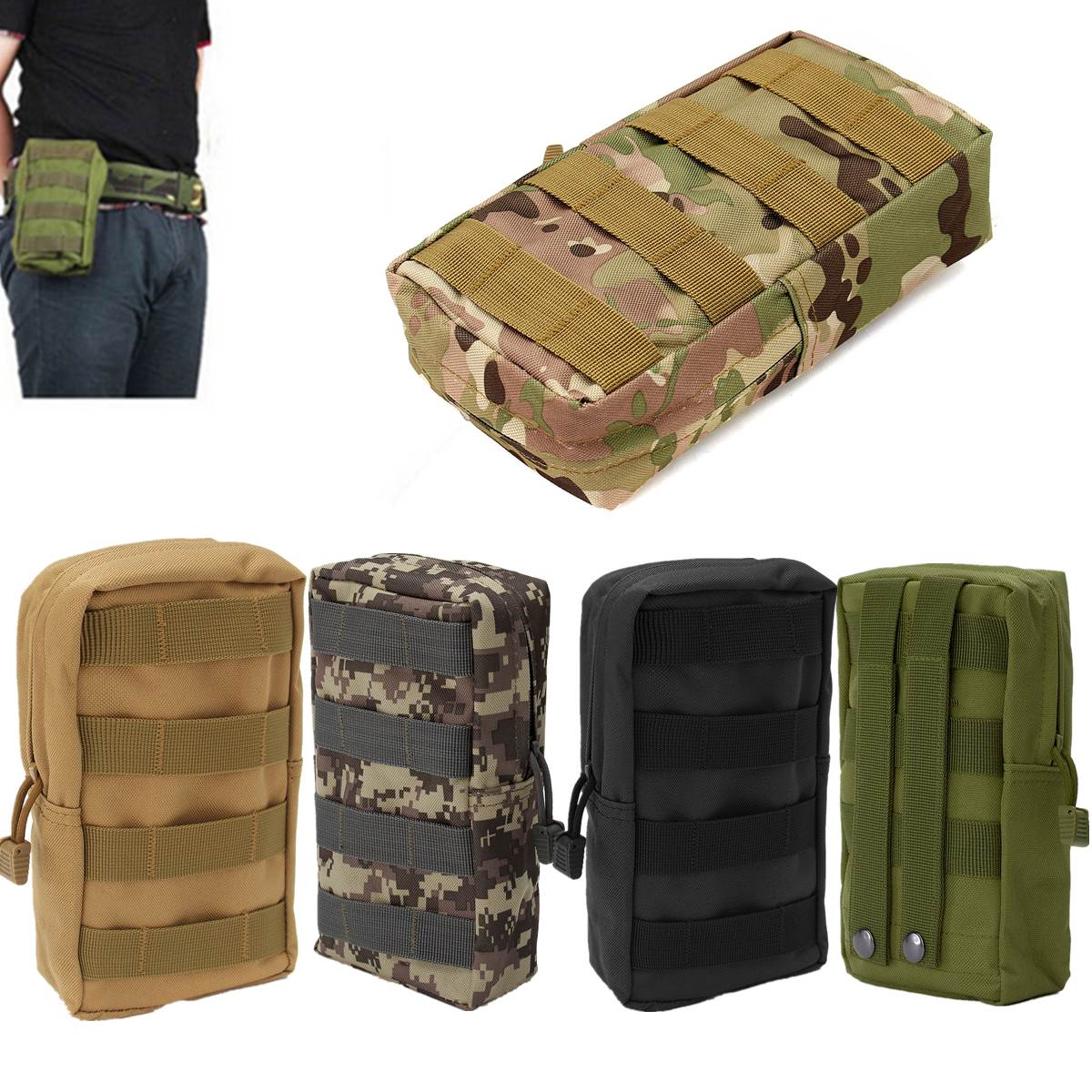 Best Nylon Tactical Molle Waist Bag Waterproof Medical First Aid Outdoor Bags Utility Emergency Storage Pouch Bag Emergency Kits