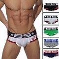 2016 best selling moda es hot elastic popular marca bs homens underwear underwear gay spandex algodão respirável sexy cueca hombr