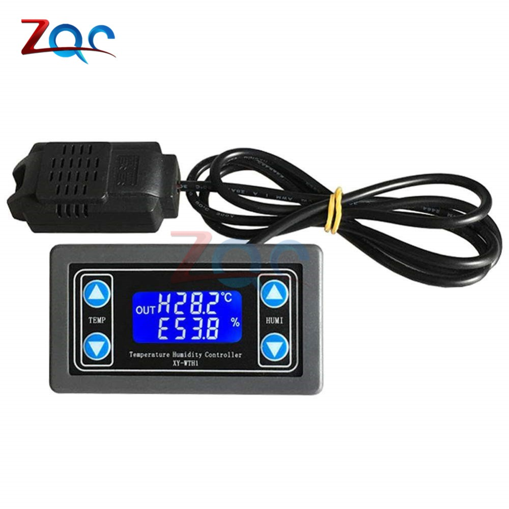10A Thermostat Digital Temperature Humidity Controller DC 6V-30V Thermal Regulator Thermocouple LCD Display SHT20 Sensor meter10A Thermostat Digital Temperature Humidity Controller DC 6V-30V Thermal Regulator Thermocouple LCD Display SHT20 Sensor meter