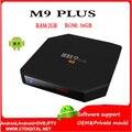 M9 Plus tv box 10pcs Amlogic S905 16g 4K Quad Core 2GB/16GB 2.4G/5GHz Dual WIFI Bluetooth4.0 KODI Media Player ott tv box