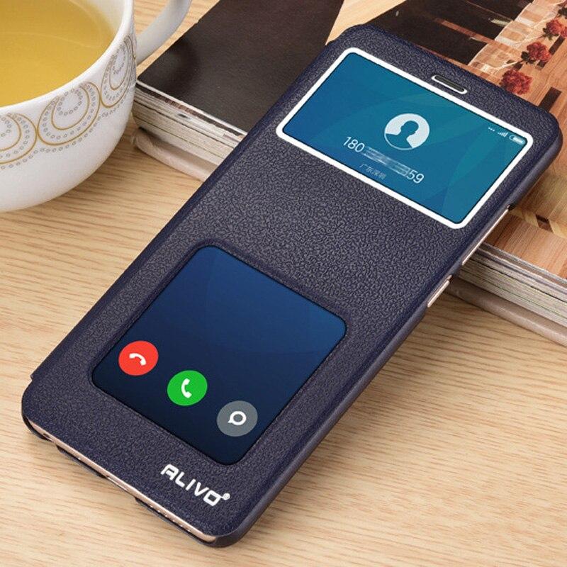 watch 7195f 50d4c For Funda Xiaomi Mi A2 lite Case Wallet Stand Leather Cases Flip Cover For  Xiaomi MiA2 lite Mi A2lite View Window Phone Capas