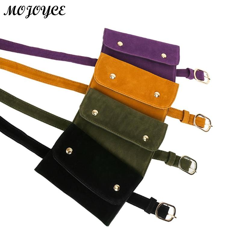 New Style Scrub Leather Flap Waist Bag Women Fanny Packs Ladies Casual Shoulder Crossbody Bags Girls Chest Pouch Phone Handbags
