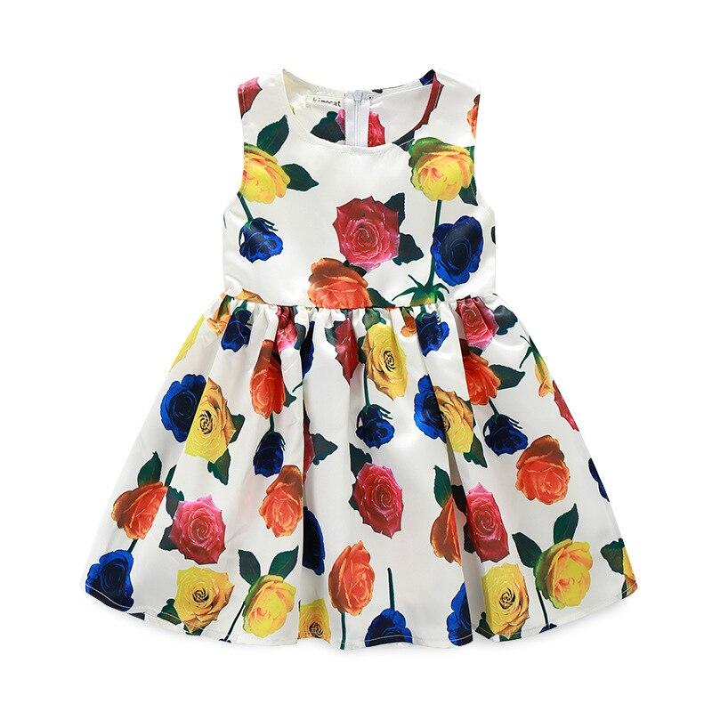 2016 new hot sale summer style brand vestido princess dress little Girls flower dress princela costume birthday Dress for Girls
