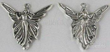 600PCS Tibetan silver large angel charms A8088-1