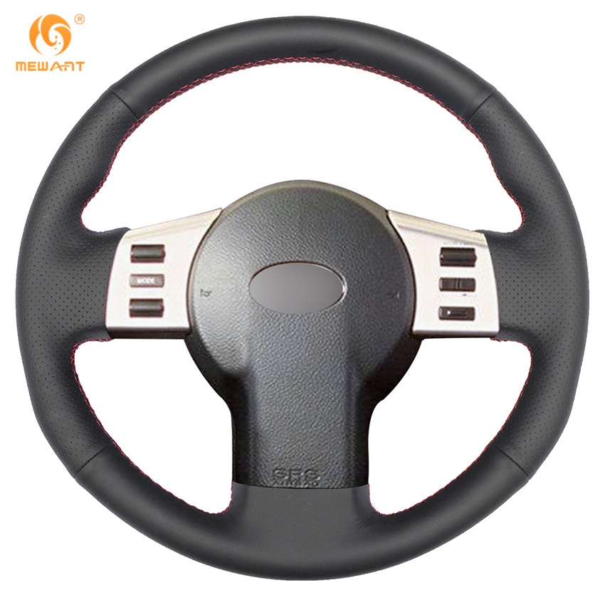 MEWANT Black Genuine Leather Car Steering Wheel Cover for Infiniti FX FX35 FX45 2003-2007 Nissan 350Z 2003-2006 car styling cowl leather steering wheel cover for lexus nx200t nx300h is250 ct200h is200t