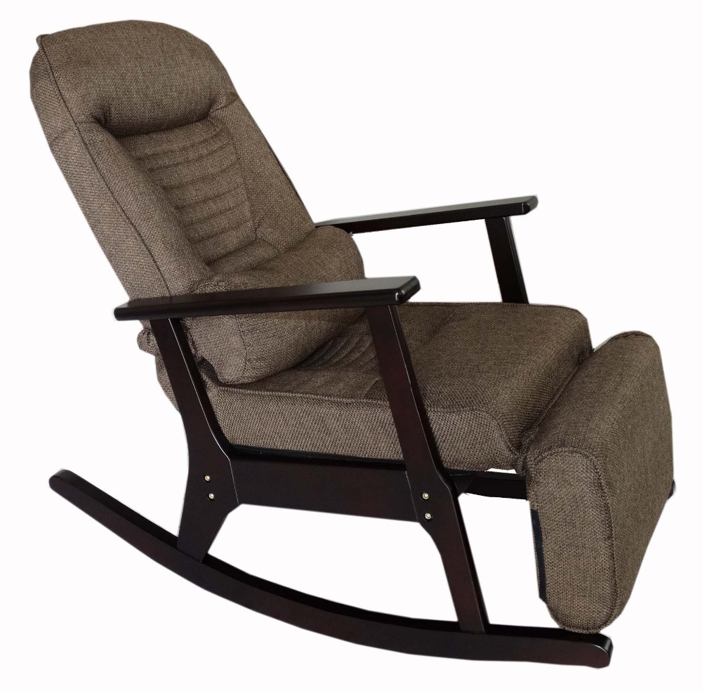 Rocking recliner chaise for elderly people japanese style recliner chair with foot stool armrest modern large
