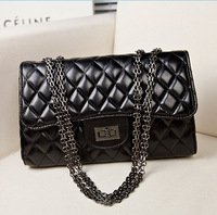 New Fashionable Bag Diamond Lattice One Shoulder Sling Bags for Women Luxury Handbags Bright Black High Quality Designer Bags
